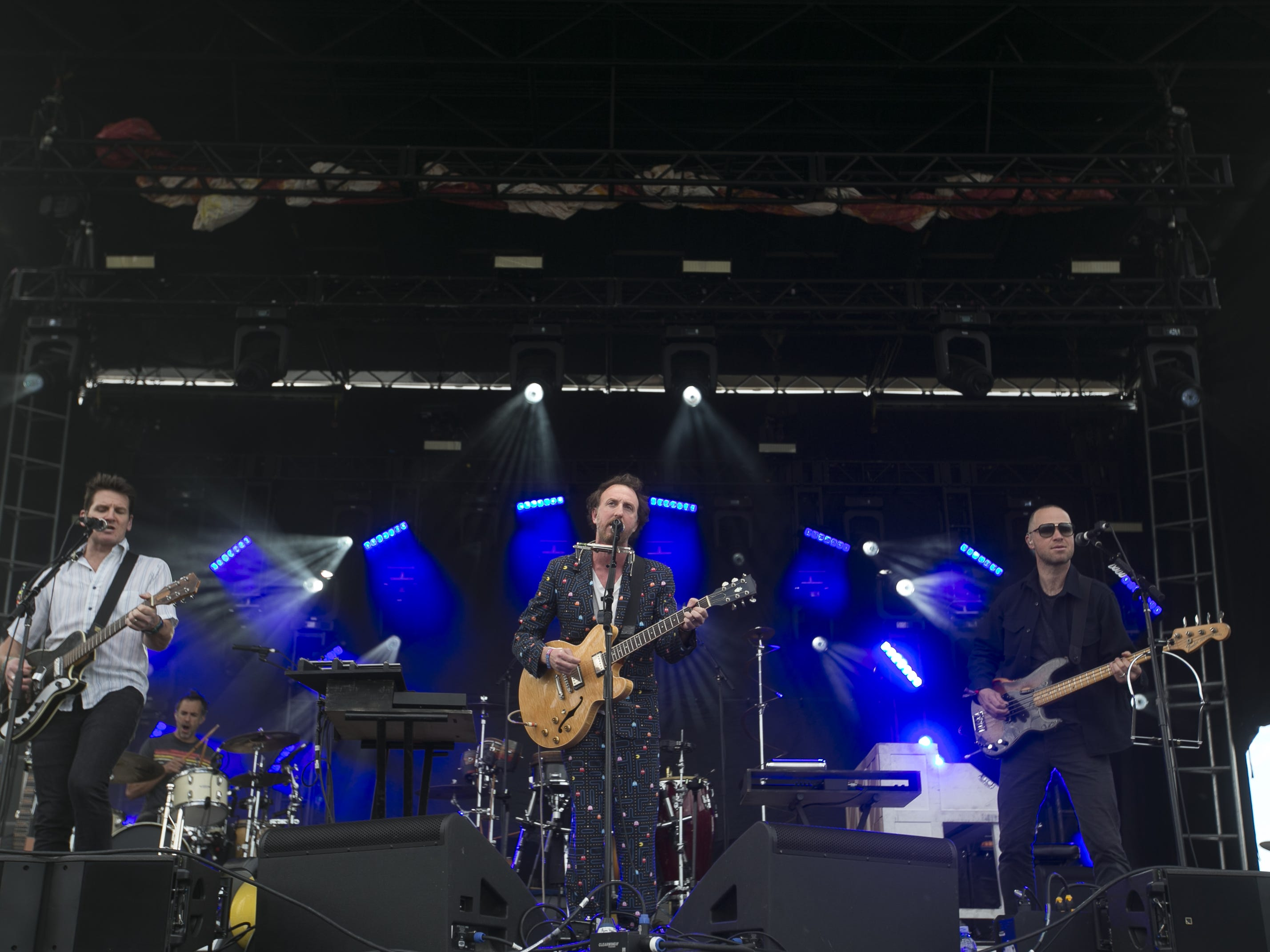 Guster perform at the Innings Festival at Tempe Beach Park in Ariz. on Saturday, March 2, 2019.