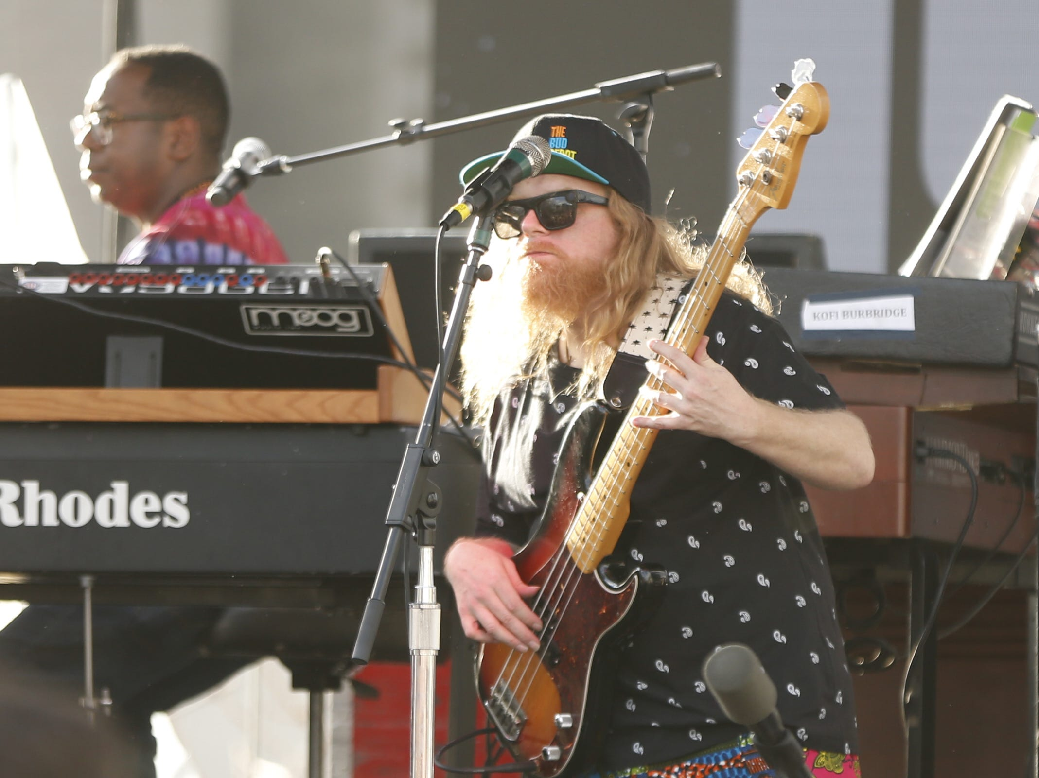 Lettuce performs during the McDowell Mountain Music Festival in Phoenix on March 2, 2019.