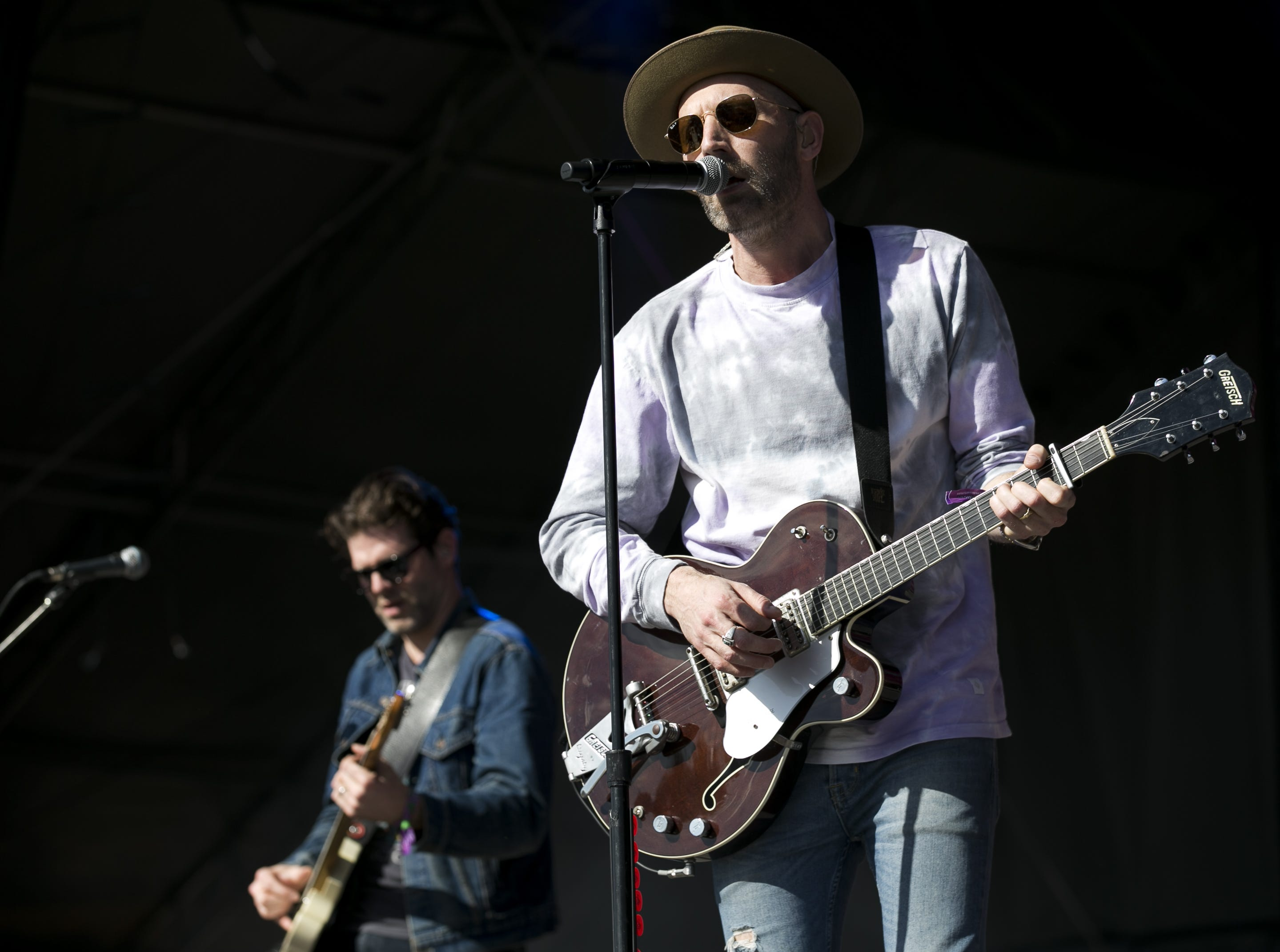 Mat Kearney and his band perform at the Innings Festival at Tempe Beach Park in Ariz. on Sunday, March 3, 2019.