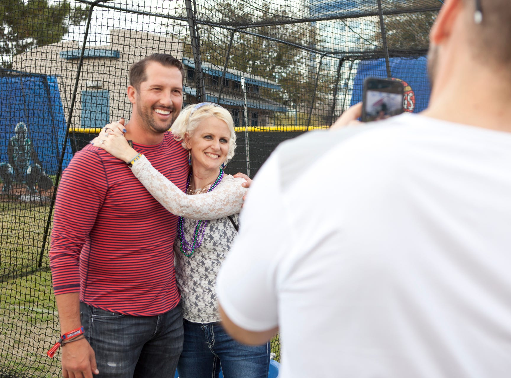 Huston Street poses for a fan photo during the Innings Festival on March 2, 2019, at Tempe Beach Park in Tempe.