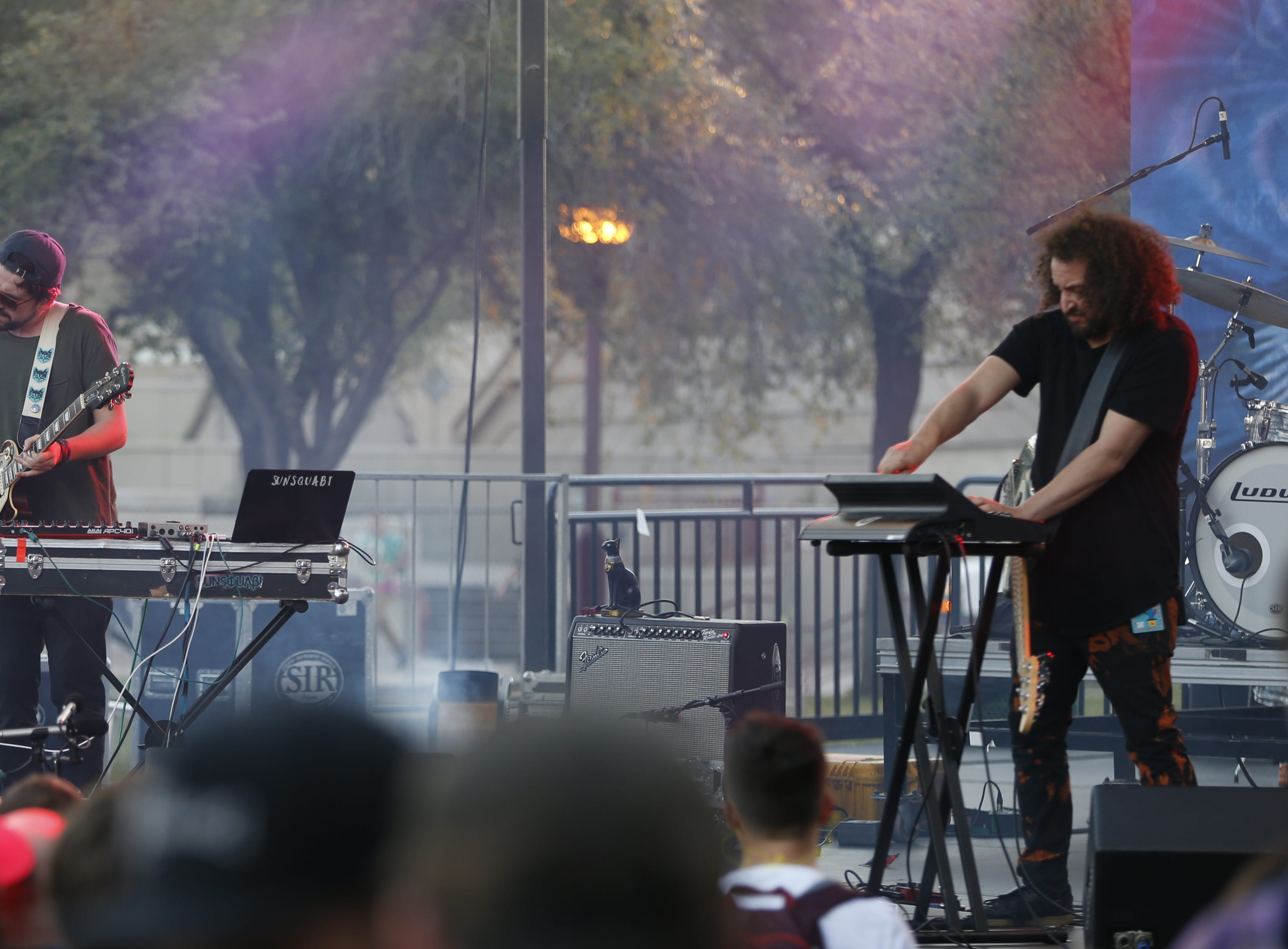Sunsquabi perform during the McDowell Mountain Music Festival in Phoenix on March 2, 2019.
