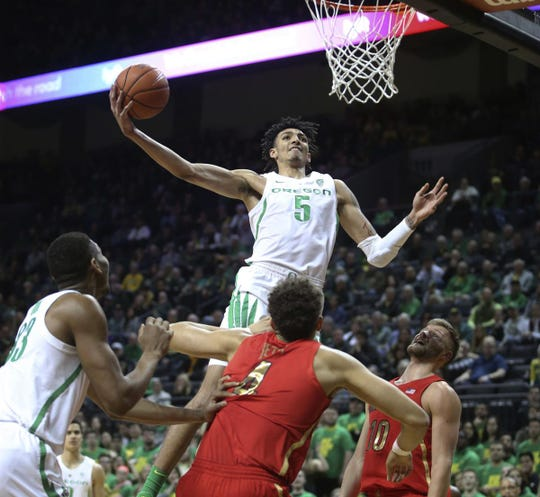 The Arizona Wildcats and Oregon Ducks meet at Matthew Knight Arena in Eugene, Oregon, on Saturday, March 2, 2019.