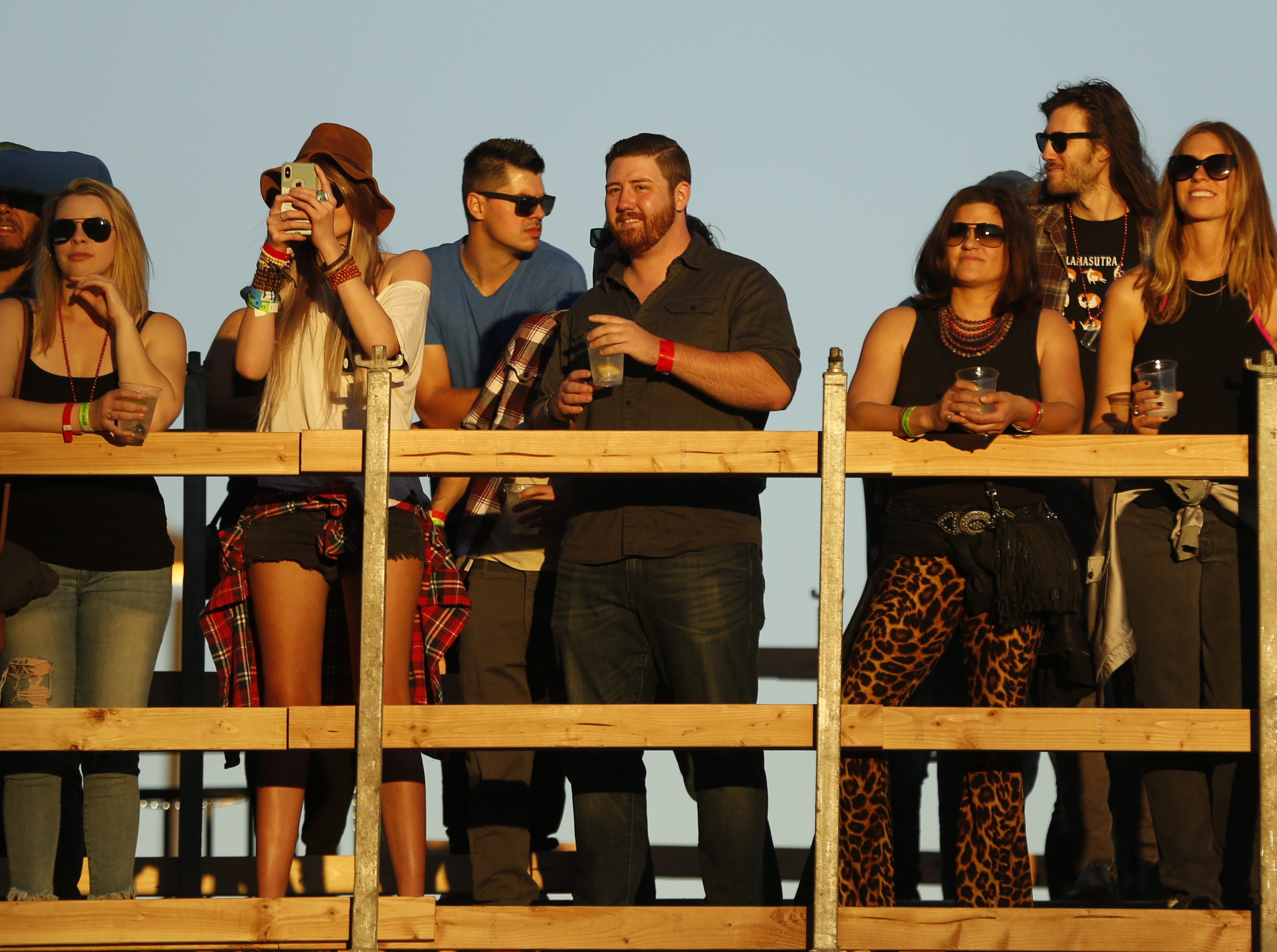 Fans listen to Kurt Vile and The Violators perform during the McDowell Mountain Music Festival in Phoenix on March 2, 2019.