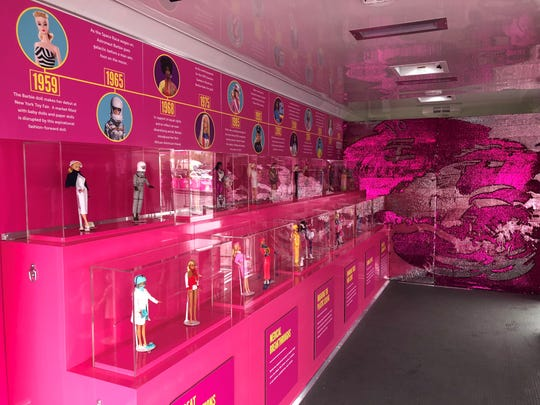 The Barbie Be Anything history trailer in Glendale on March 2, 2019.