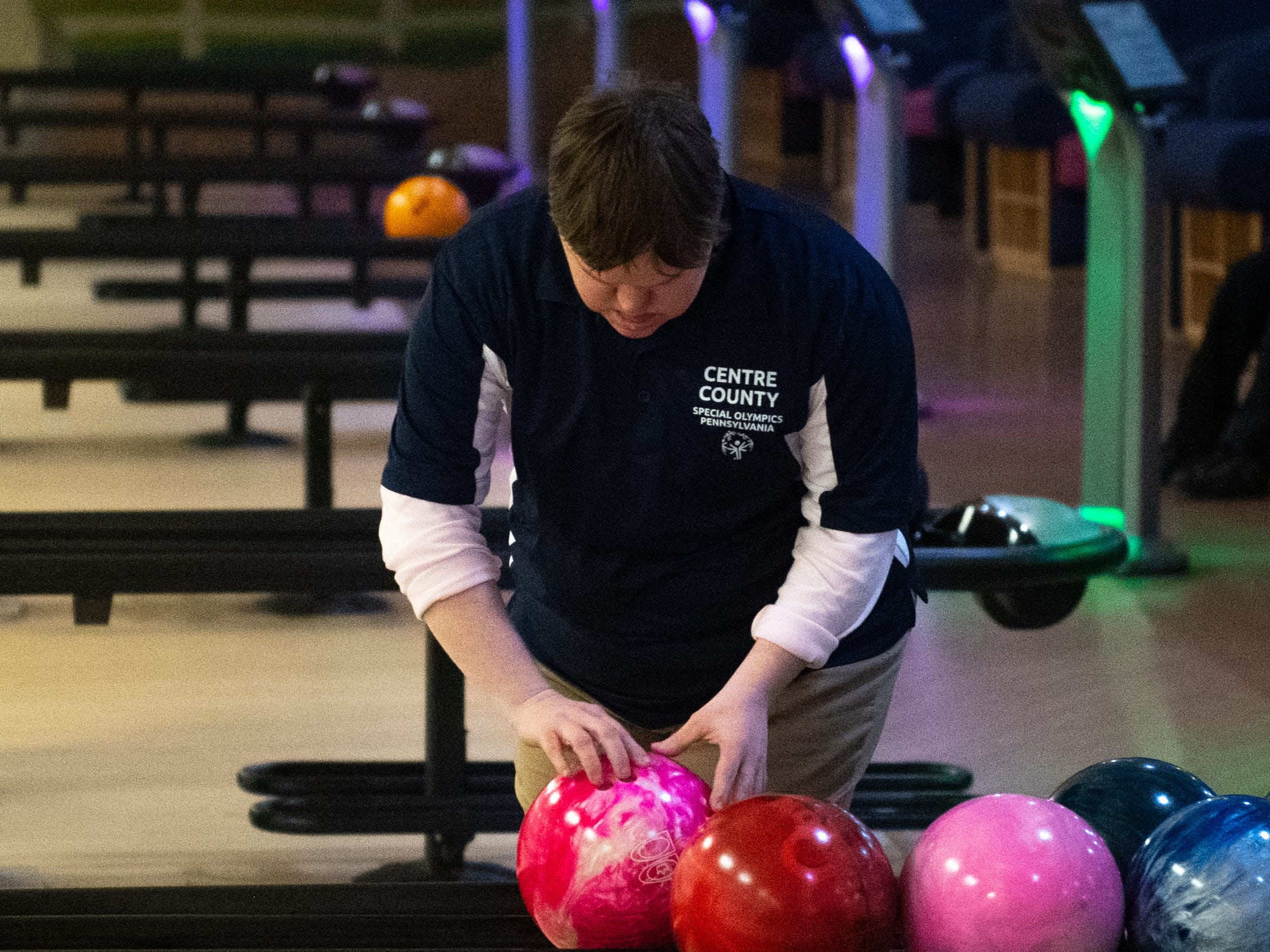Every athlete has a specific ball they simply can't bowl without during the Special Olympics Pennsylvania Indoor Winter Games, March 2, 2019.