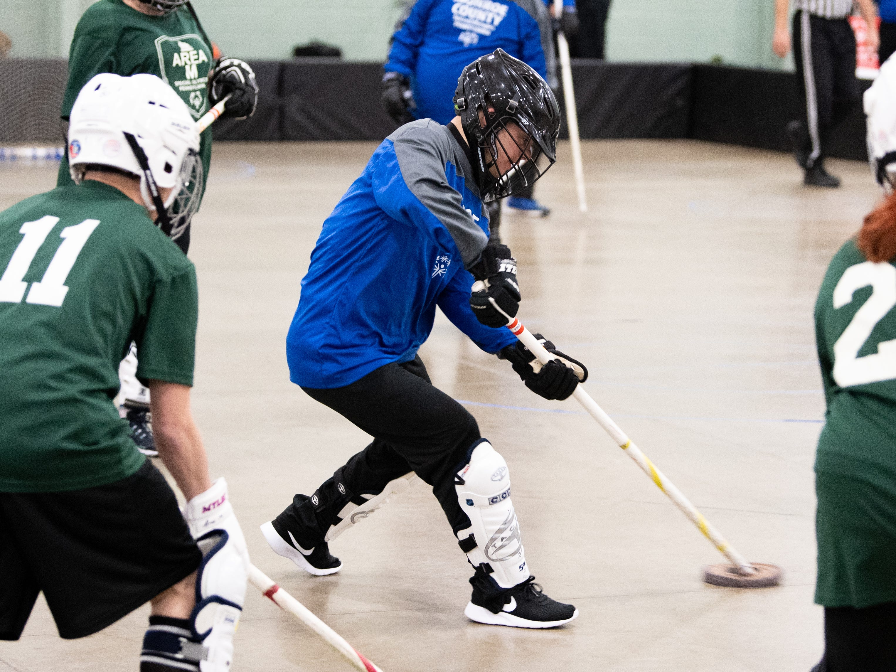 Floor hockey is very similar to ice hockey, except it can be played almost anywhere and the puck is bigger, March 2, 2019.