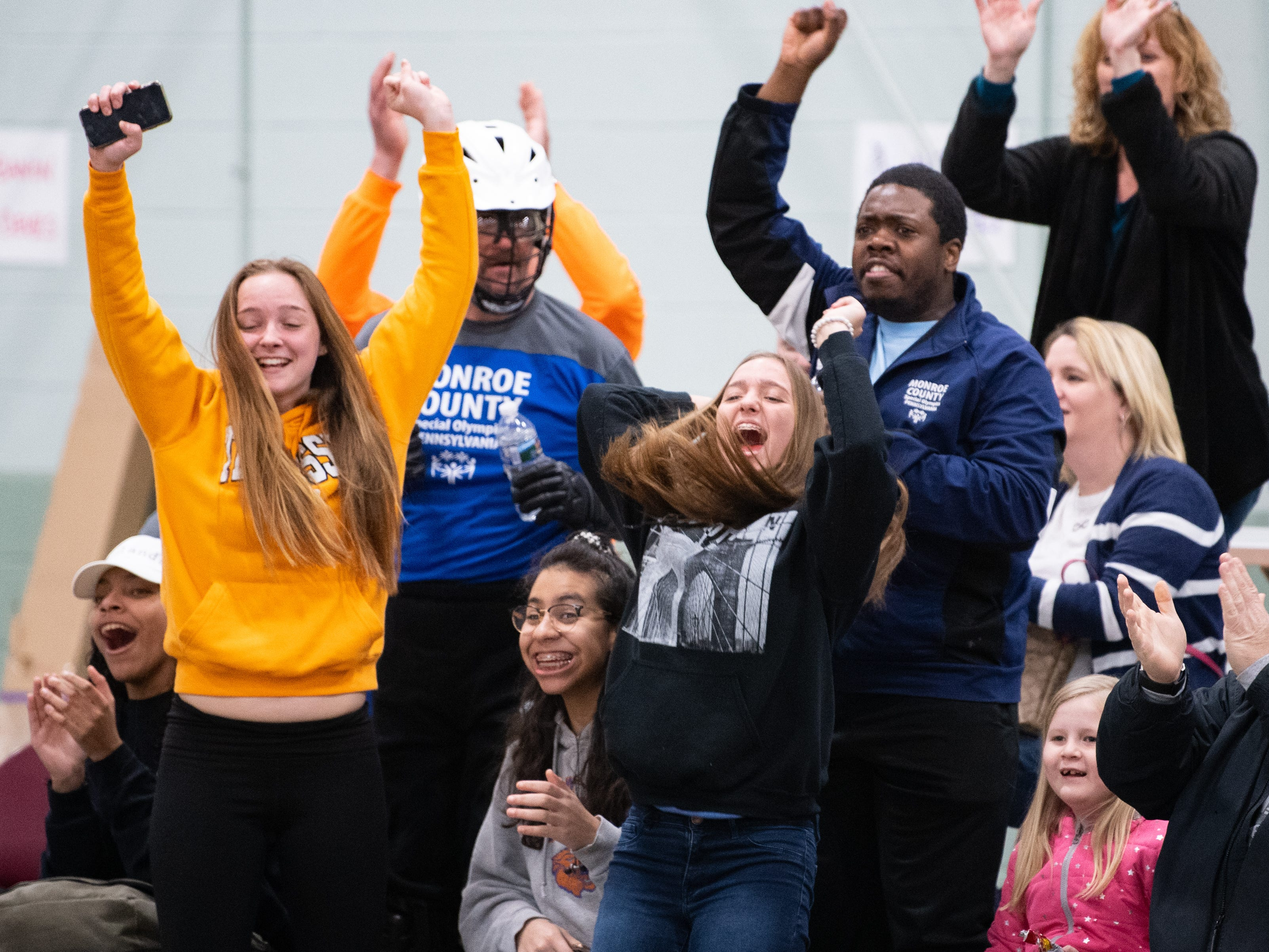 Fans cheer on all of the athletes during the Special Olympics Pennsylvania Indoor Winter Games, March 2, 2019.