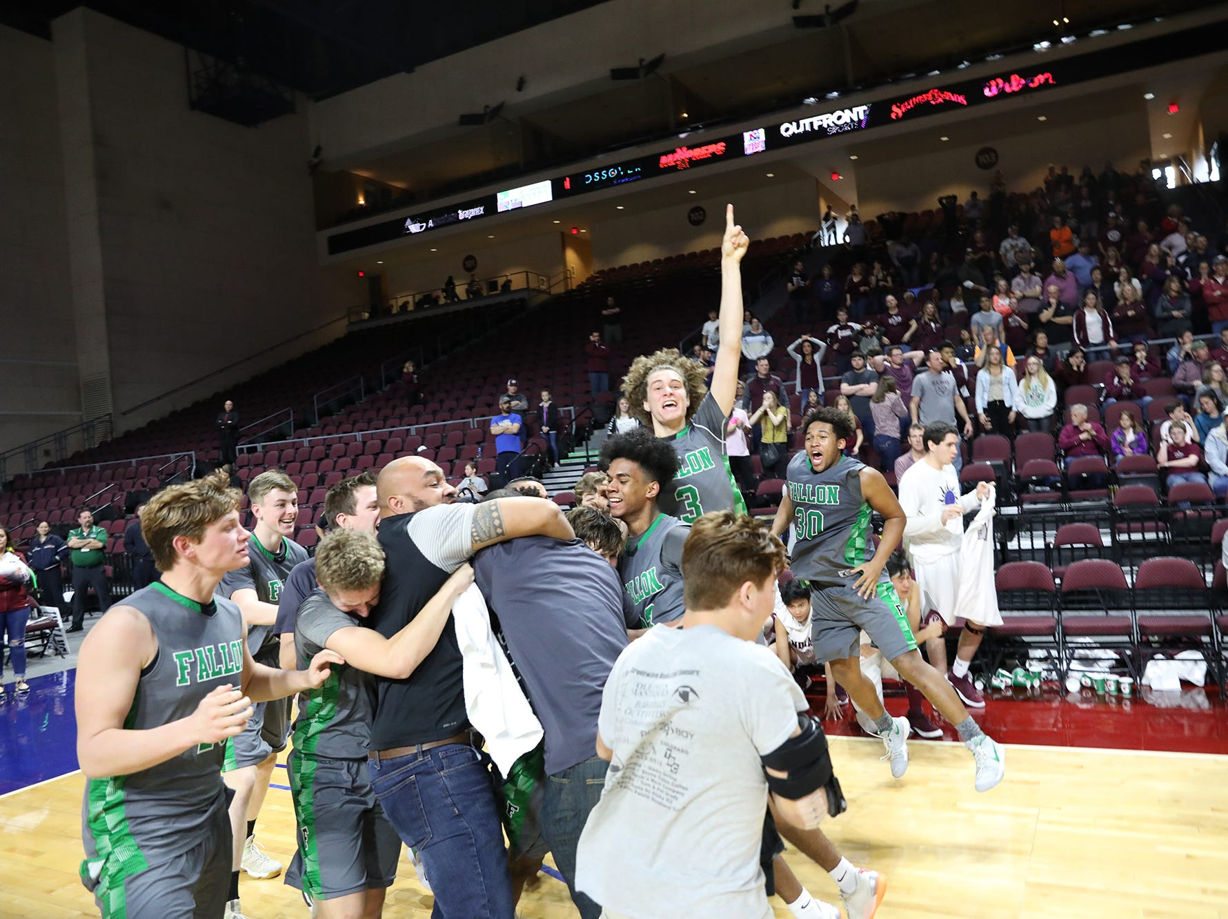 The Fallon boys won the 3A state basketball championship on Saturday.