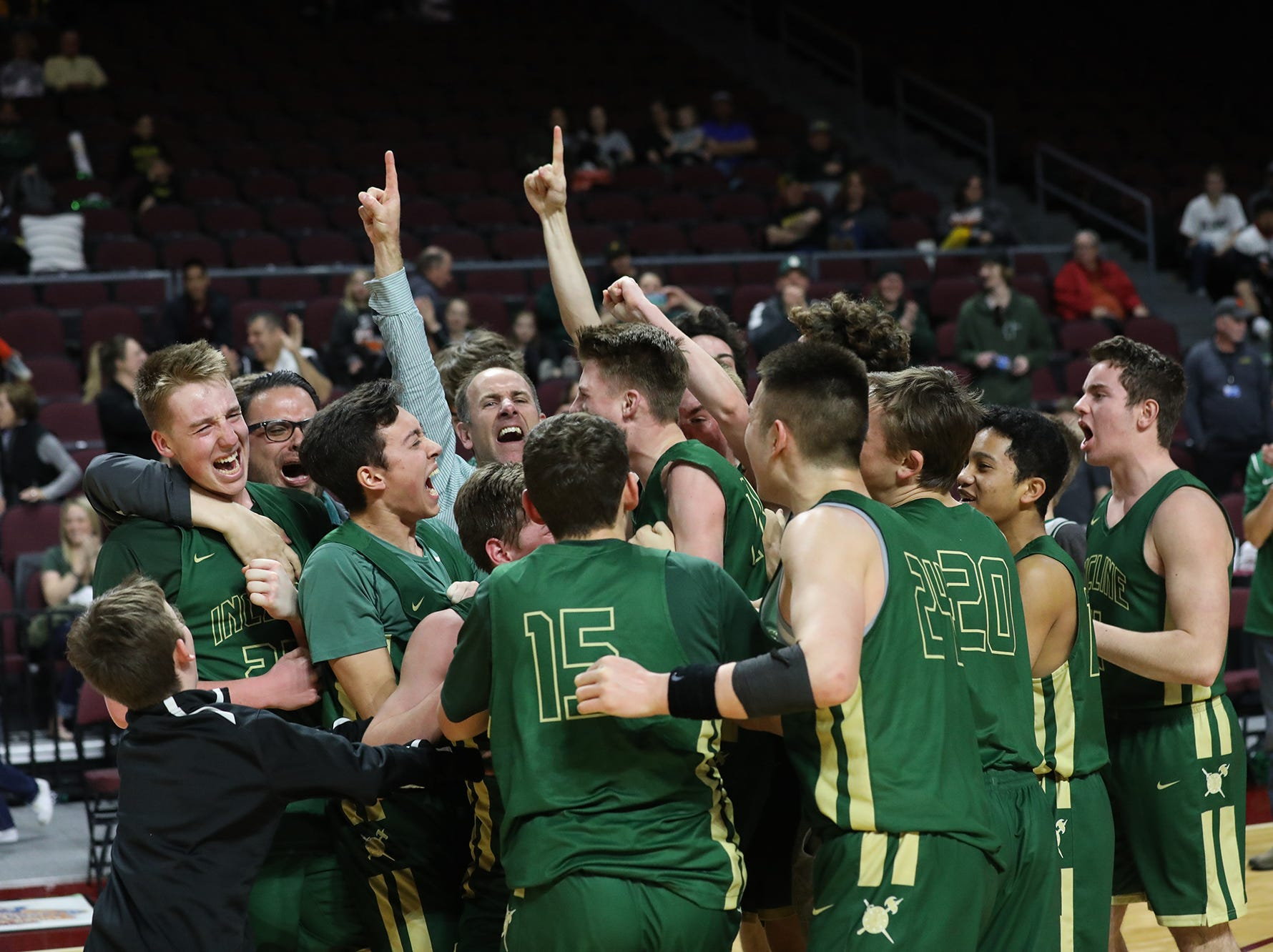 The Incline boys won the 2A state basketball title on Saturday.