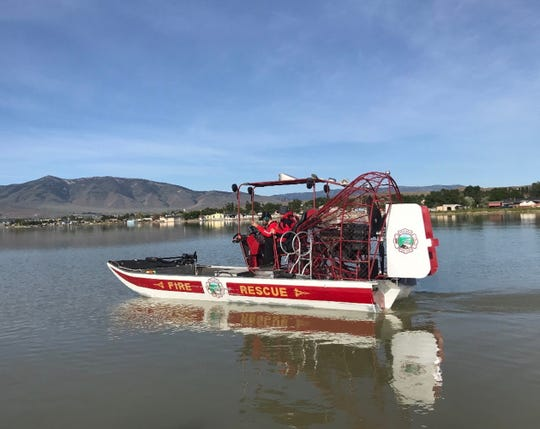 Truckee Meadows Fire Protection District sold Hasty Team volunteers with the Washoe County Sheriff's Office an airboat after the agency purchased a new boat. The airboat cost one dollar.