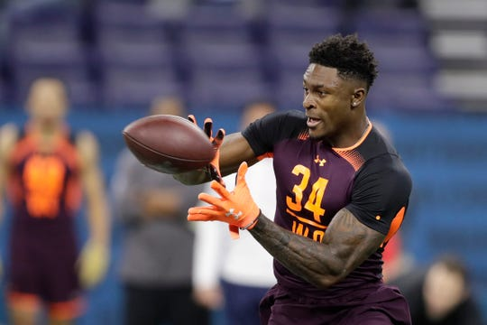 Mississippi wide receiver D.K. Metcalf blew away the Scouting Combine in the drills and with his physical measurements.