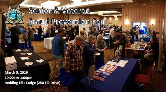 The Shasta County District Attorney's Office will present its annual fraud prevention fair from 10 a.m. to 1 p.m. on Tuesday, March 5, 2019, at the Redding Elks Lodge.