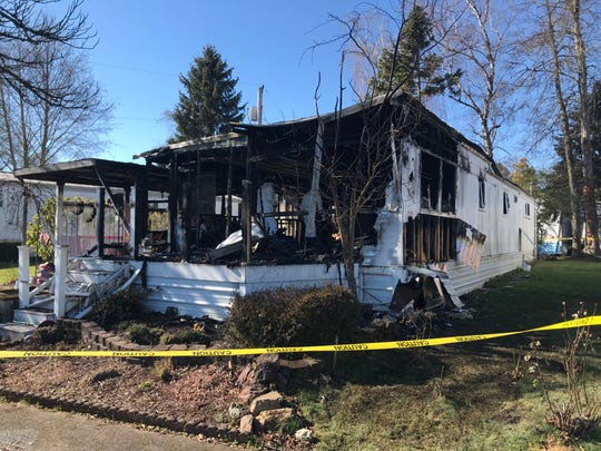 A fire at a mobile home park in Keizer killed a man and his dog Sunday morning.
