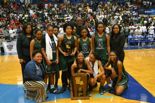 The Mansfield Lady Wolverines won the LHSAA Class 2A girls basketball state championship Saturday.