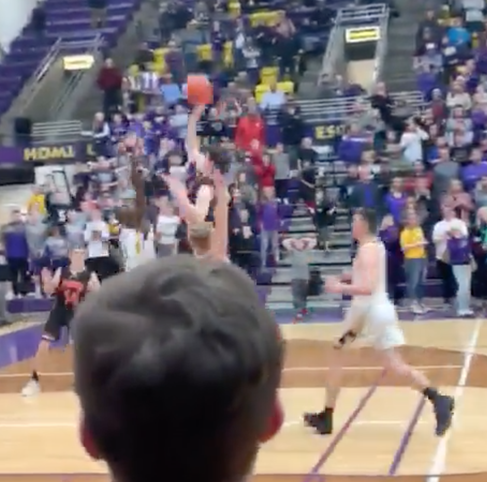 VIDEO: Teegan Evers punches Huron's ticket to state with buzzer-beating floater