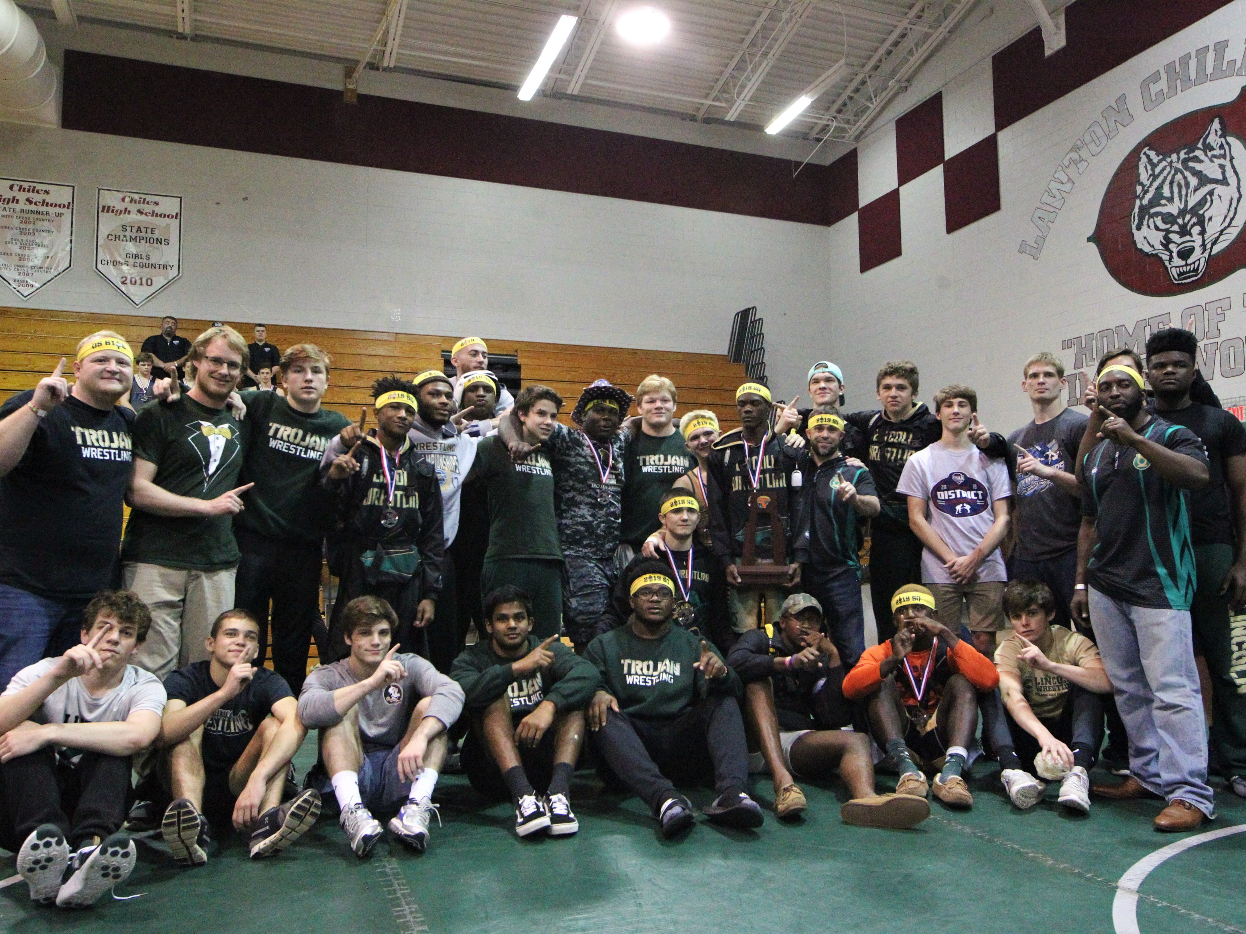 Lincoln's wrestling captured a Region 1-2A title on at Chiles on March 2, 2019, and the Trojans sent eight wrestlers to state.