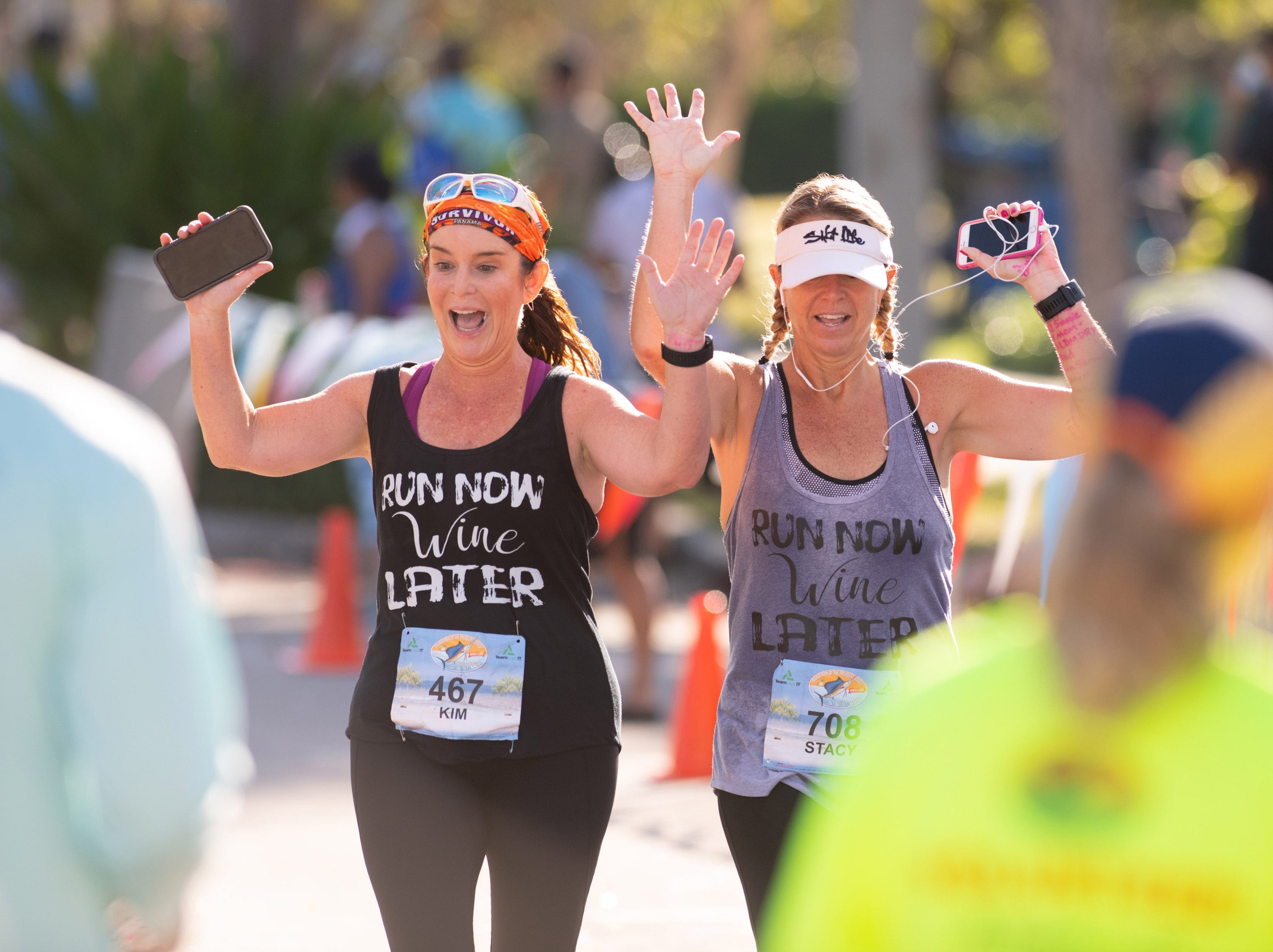 The finish of the sixth annual Marathon of the Treasure Coast at Memorial Park on Sunday, March 3, 2019 in Stuart.