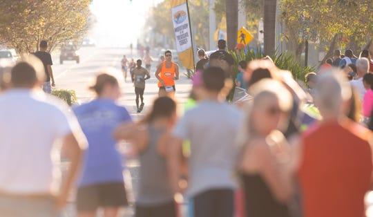 The seventh annual Marathon of the Treasure Coast starts at 6 a.m. Sunday at Memorial Park, 300 S.E. Ocean Blvd., Stuart, and winds through Stuart, Jensen Beach, Hutchinson Island and Sewall's Point.