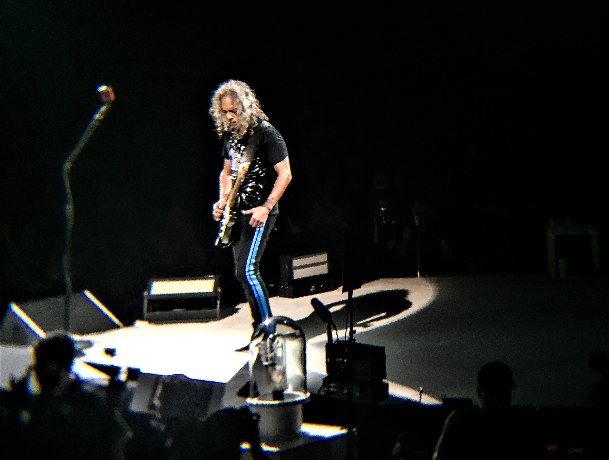Lead guitarist Kirk Hammett at the Metallica concert Thursday, Feb. 28, 2019, at the Don Haskins Center.