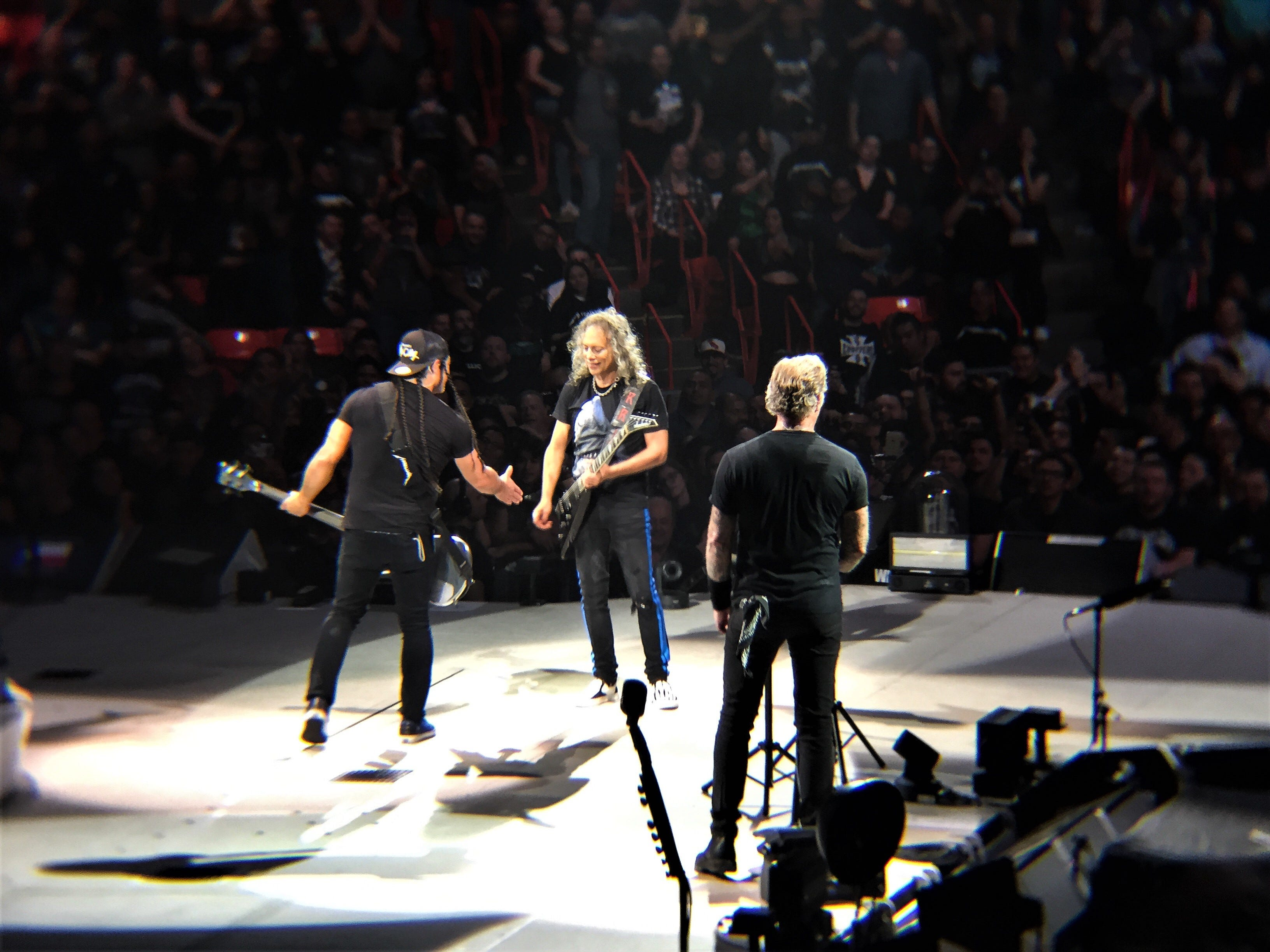 Metallica in concert Thursday, Feb. 28, 2019, at the Don Haskins Center.