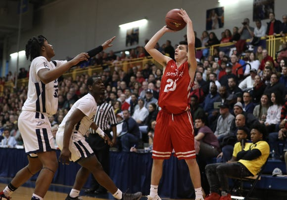 Poughkeepsie defeated Tappan Zee 47-42 in the Section 1 Class A championship game at Pace University in Pleasantville March 2, 2019.