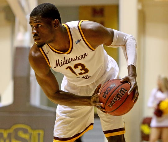 D'monta Harris poured in 36 points on 13 of 15 shooting for Midwestern State on Wednesday night.