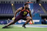 Munday's L.J. Collier has been busy preparing for the NFL Draft and Sunday worked out at the NFL Combine in Indianapolis.