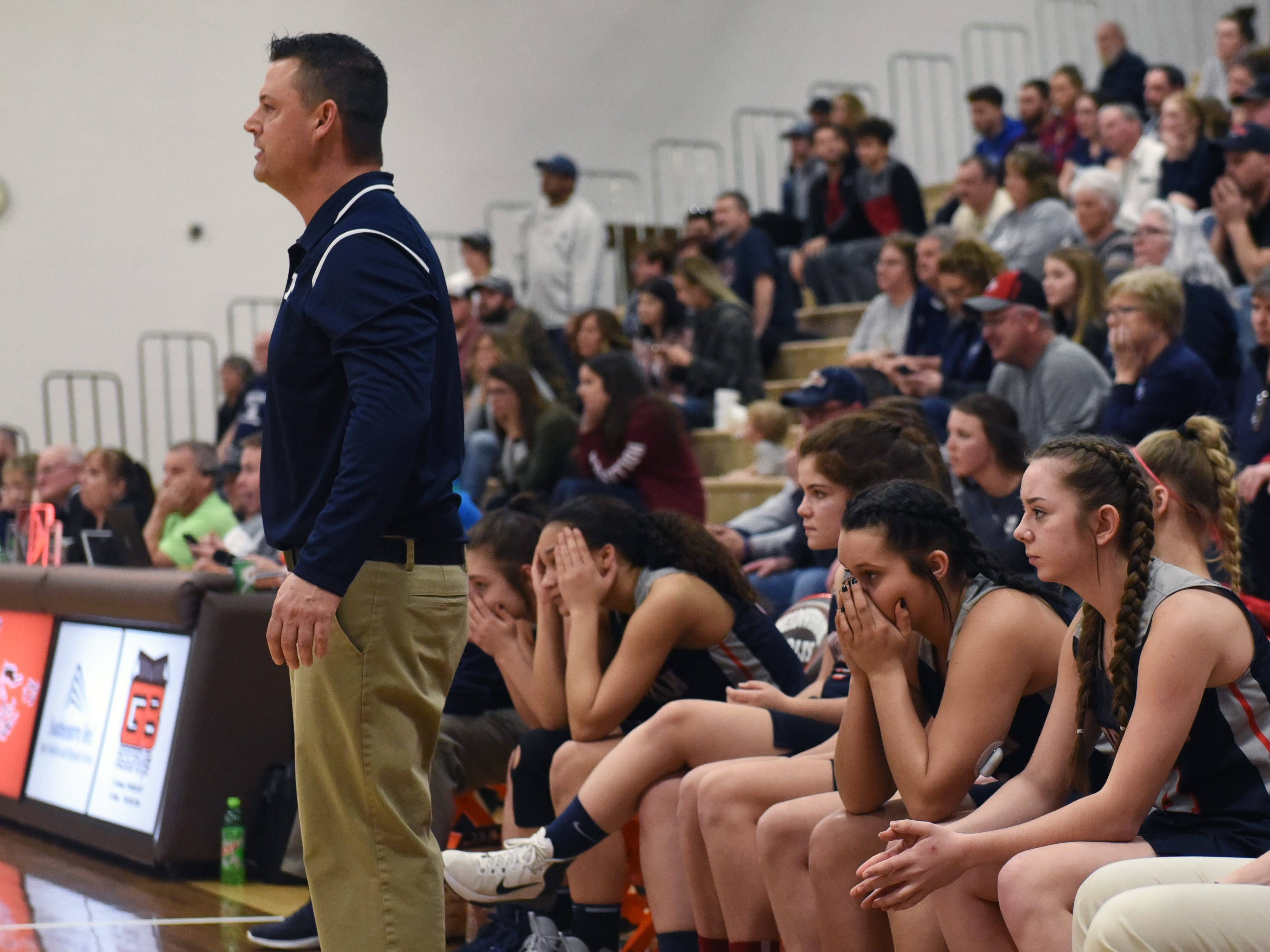 There were plenty of nervous moments during the fourth quarter of Morgan's 46-44 win against Bellaire on Saturday in a Division III district final at Meadowbrook High School.