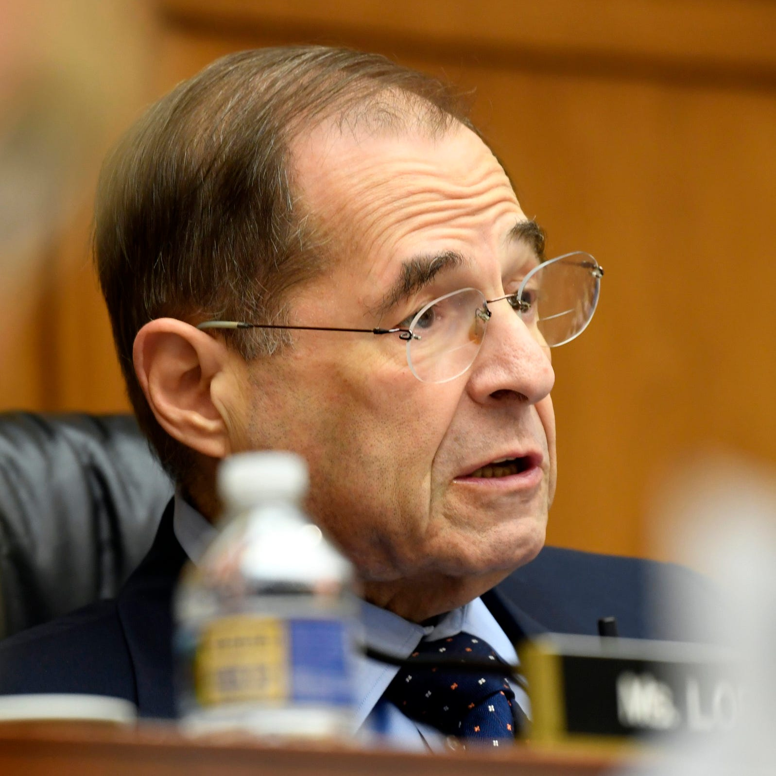 Rep. Jerry Nadler, D-N.Y., Chairman of the House Judiciary Committee, questions acting Attorney General Matthew Whitaker during a hearing on Feb. 8, 2019 in Washington.