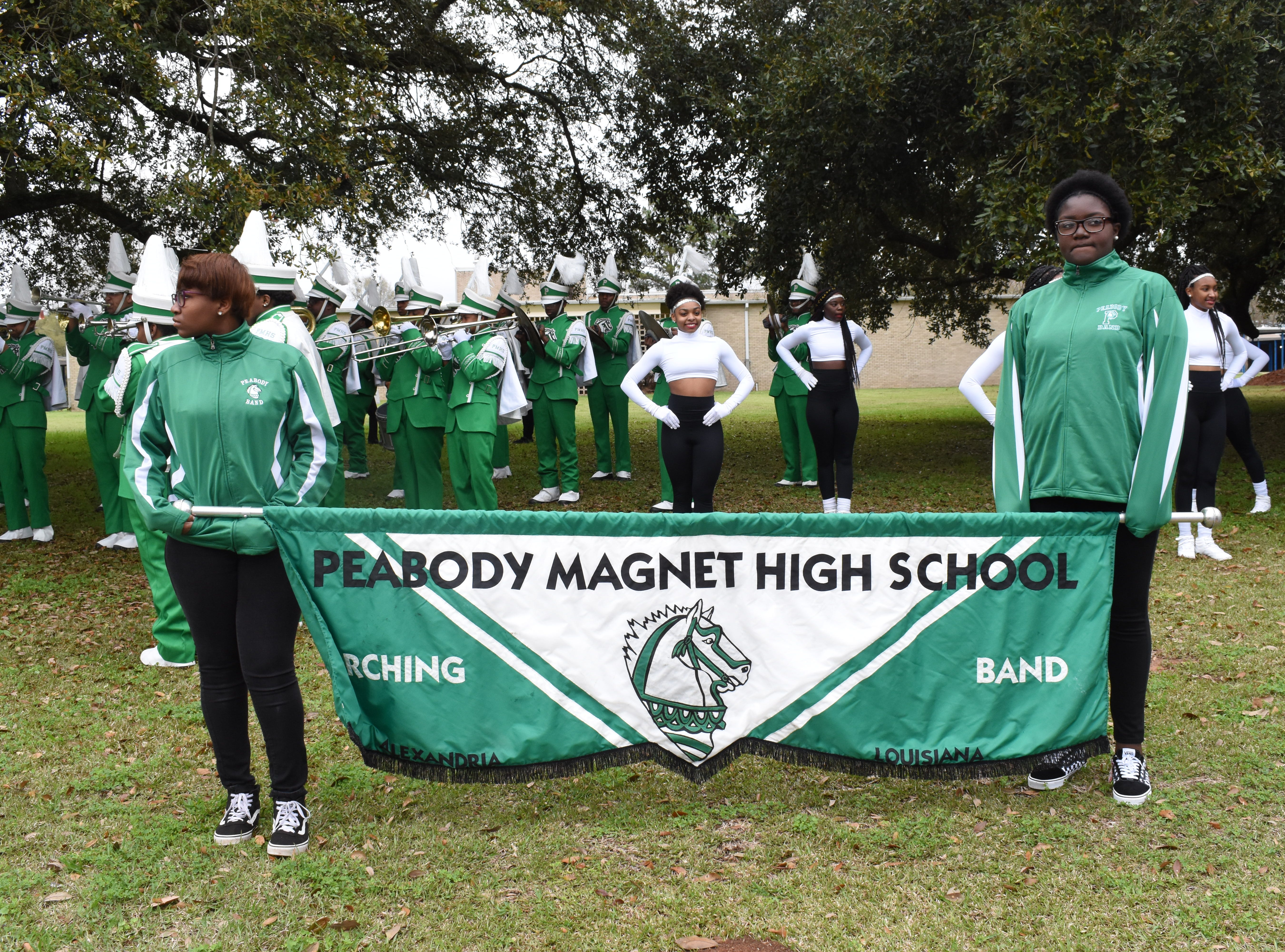 The Alexandria Mardi Gras Association's 26th annual Krewes Parade was held Sunday, March 3, 2019. The parade consisting of over 20 krewe floats, the Grambling University Band, The Peabody Magnet High School Band and the Ville Platte High School Band, proceeded from Monroe and Texas Streets to the Alexandria Mall.