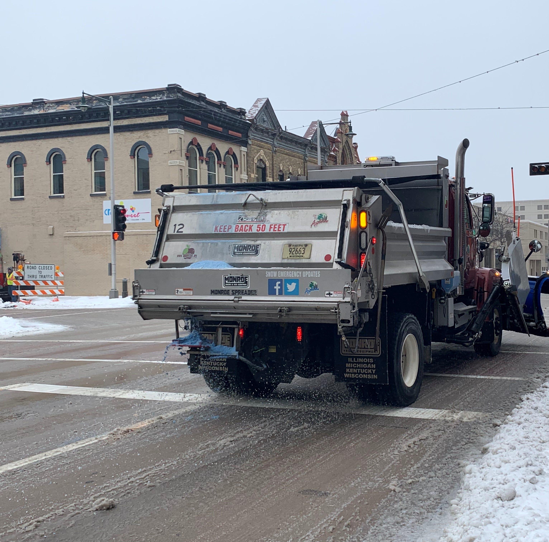 Appleton runs low on salt, can only melt ice on main roads, bridges and hills