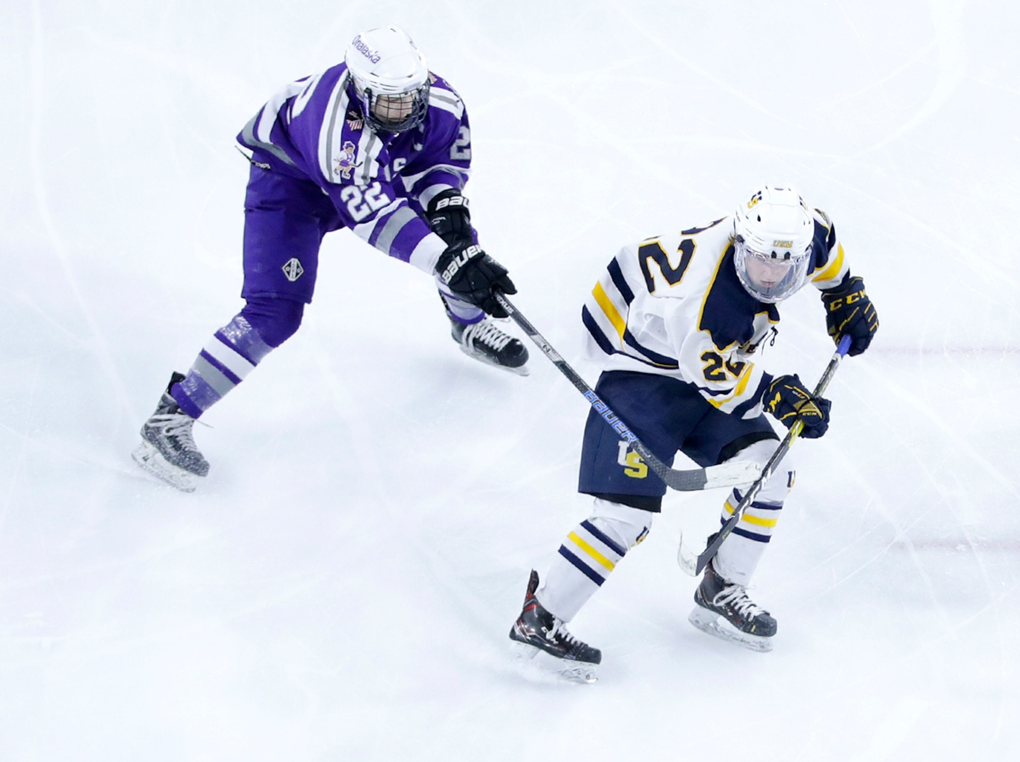 Jacob Como scores what proves to be the winning goal for University School of Milwaukee in the Wildcats' 4-3 victory over the Onalaska Co-op on Thursday.