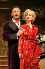 "Alec Baldwin and Anne Heche in Roundabout Theatre Company's 2004 revival of ""Twentieth Century."""