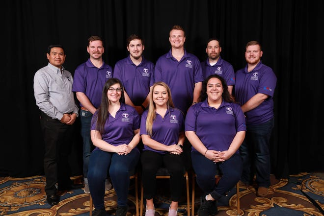 The Tarleton State University team, led by Dr. Orlando Bagcal, at the International Builders' Show.
