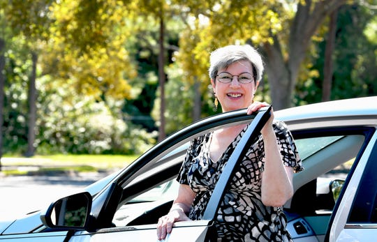 Laura Solash Gensler of Melbourne is a volunteer driver for the American Cancer Society's Road to Recovery program.