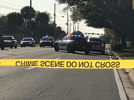 Police vehicles were seen near Stone Middle School after reports of shooting in the area Monday afternoon.