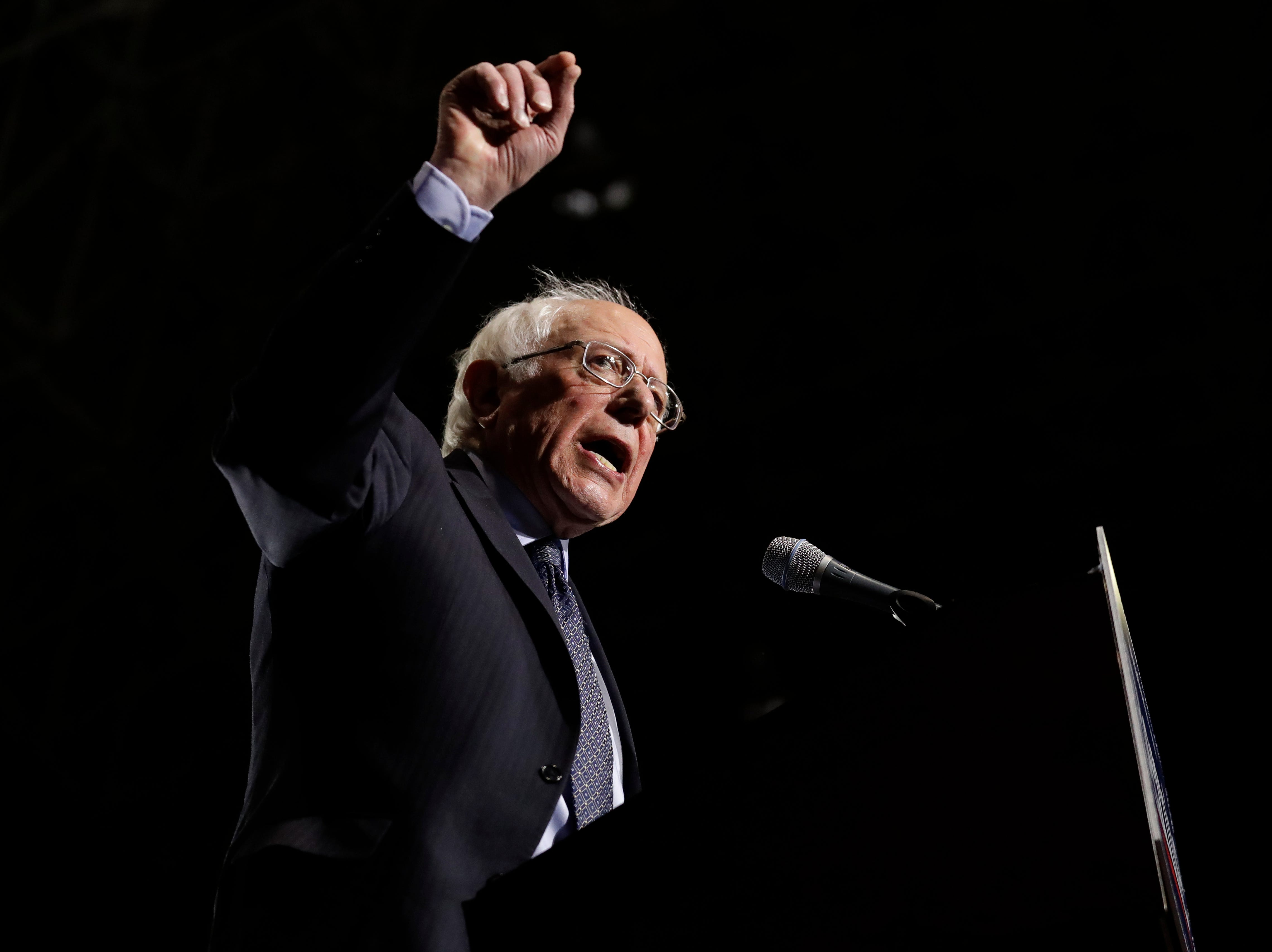 Sen. Bernie Sanders, I-Vt., speaks as he kicks off his 2020 presidential campaign at Navy Pier in Chicago, Sunday, March 3, 2019. Over the next several weeks, Sanders will travel to Iowa, New Hampshire, South Carolina, Nevada, and California. He will then return to Burlington, Vt., for the official launch of his campaign.