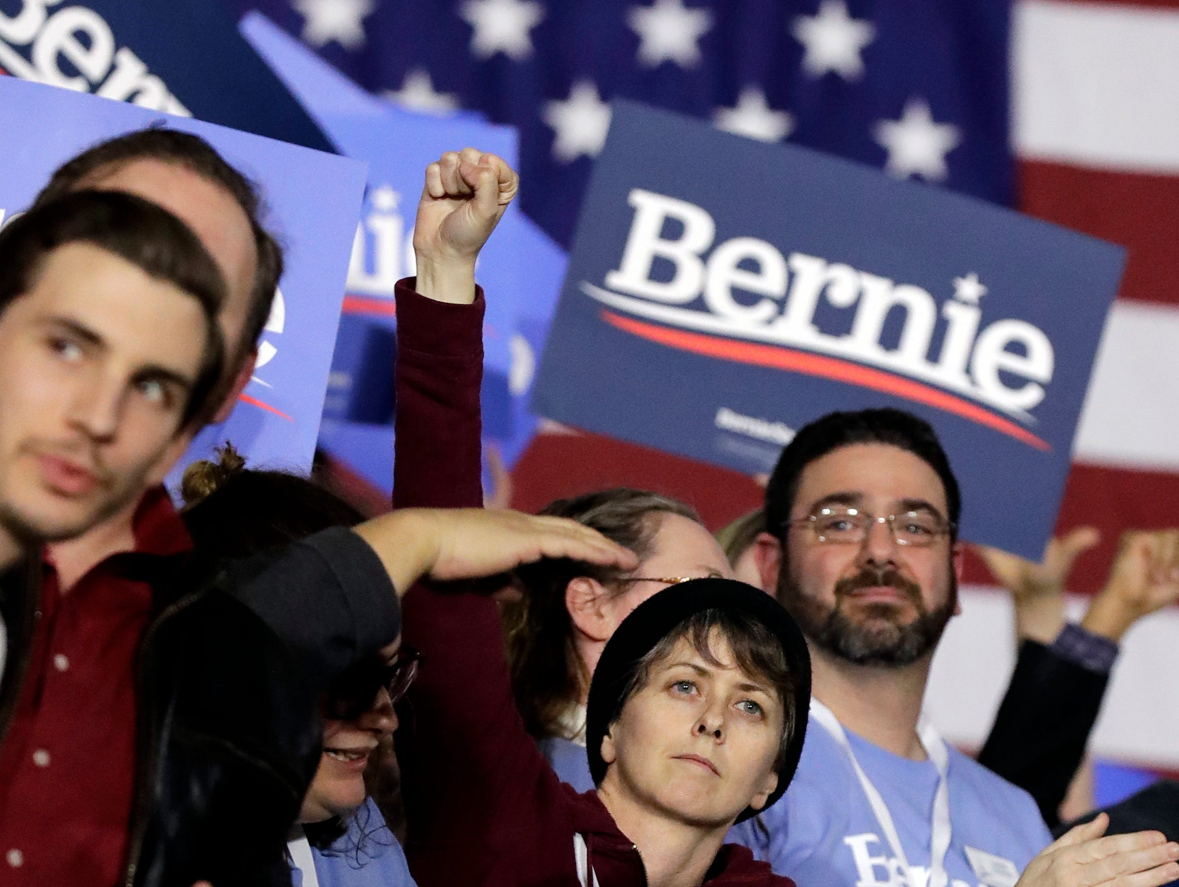 Supporters wait for Sen. Bernie Sanders at 2020 presidential campaign event in Chicago, Sunday, March 3, 2019. Over the next several weeks, Sanders will travel to Iowa, New Hampshire, South Carolina, Nevada, and California. He will then return to Burlington, Vt., for the official launch of his campaign.