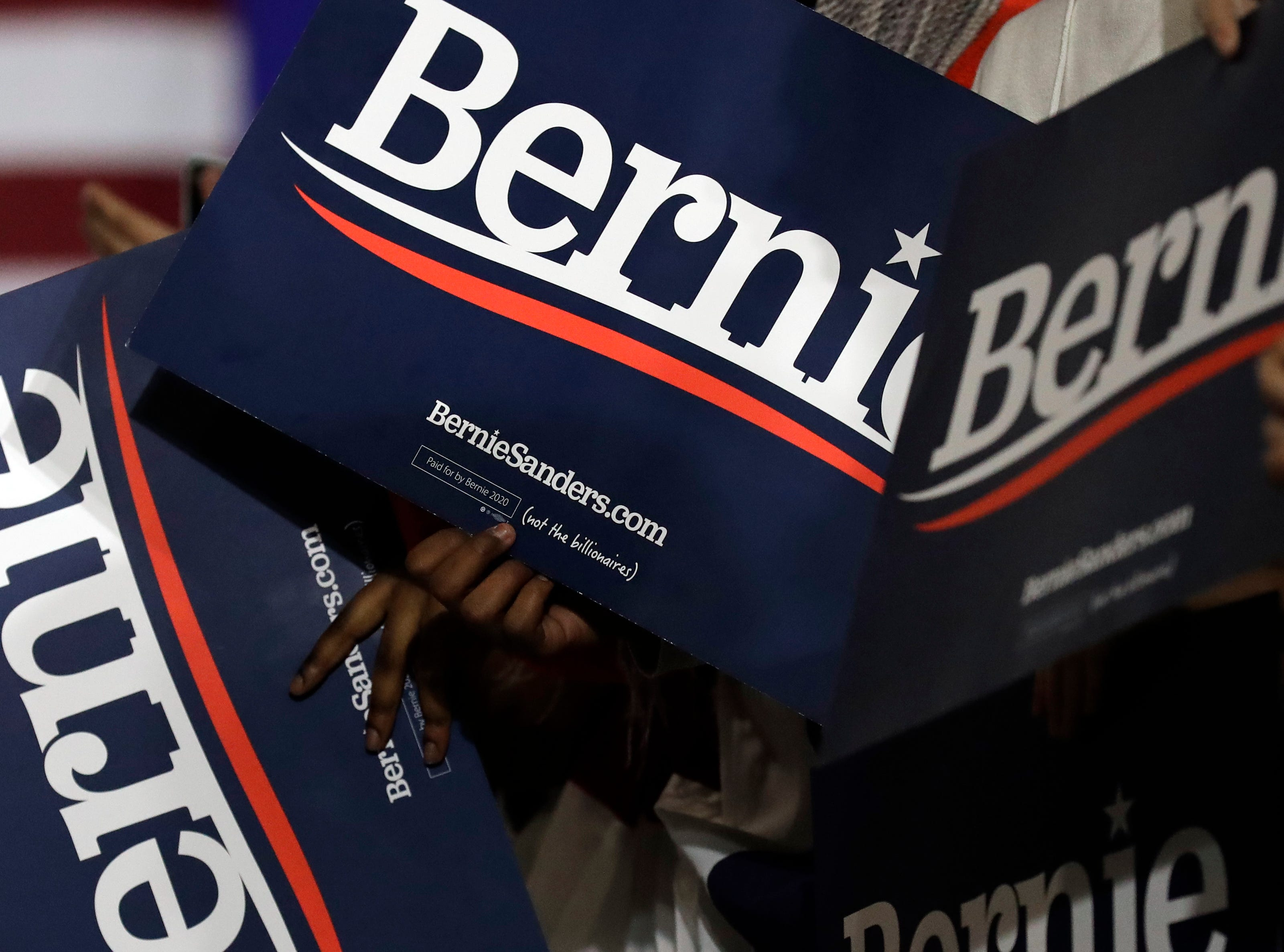 Supporters wait for Sen. Bernie Sanders at 2020 presidential campaign in Chicago, Sunday, March 3, 2019. Over the next several weeks, Sanders will travel to Iowa, New Hampshire, South Carolina, Nevada, and California. He will then return to Burlington, Vermont, for the official launch of his campaign.