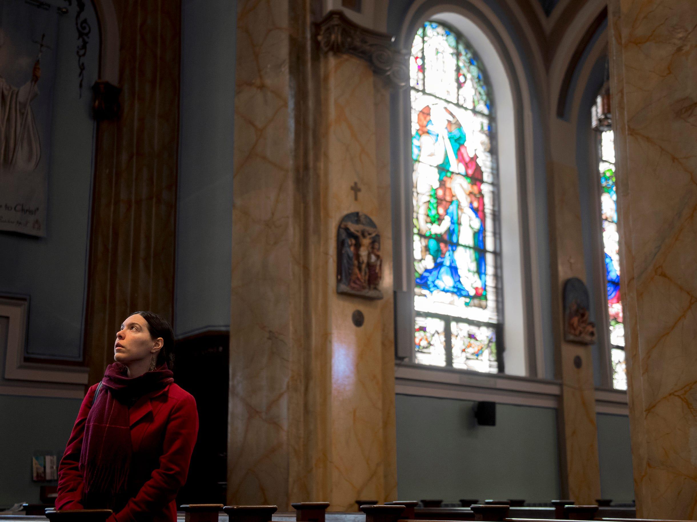 Bonny Beth Elwell of the Camden County Historical Society looks around inside St. Joseph Roman Catholic Church Thursday, Feb. 28, 2019 in Camden, N.J.