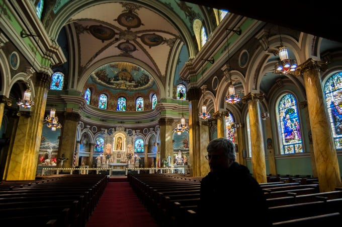 Henry Szychulski of Saint Joseph's History Society of South Camden inside St. Joseph Roman Catholic Church Thursday, Feb. 28, 2019 in Camden, N.J.