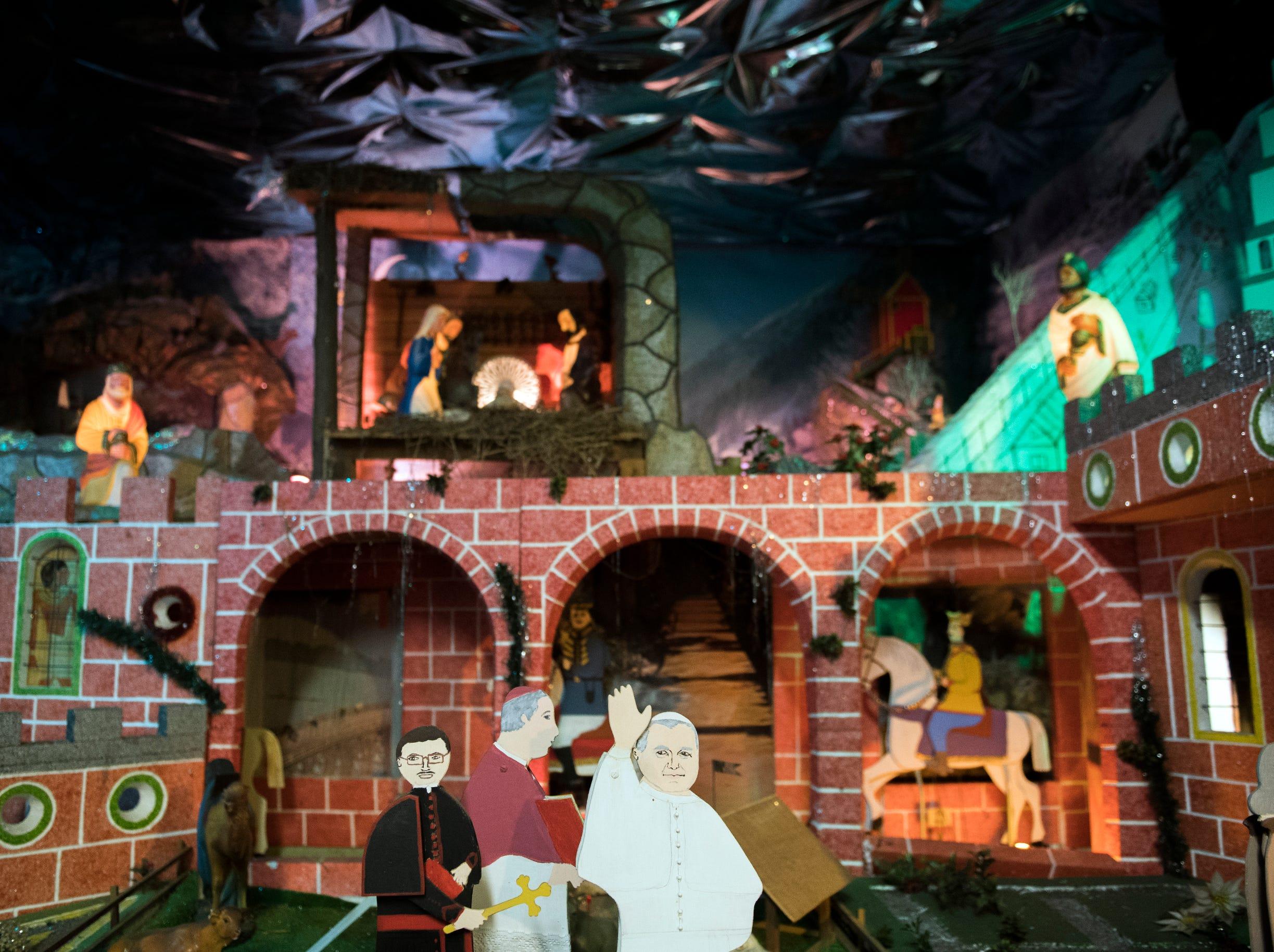 A moving nativity display inside St. Joseph Roman Catholic Church Thursday, Feb. 28, 2019 in Camden, N.J.