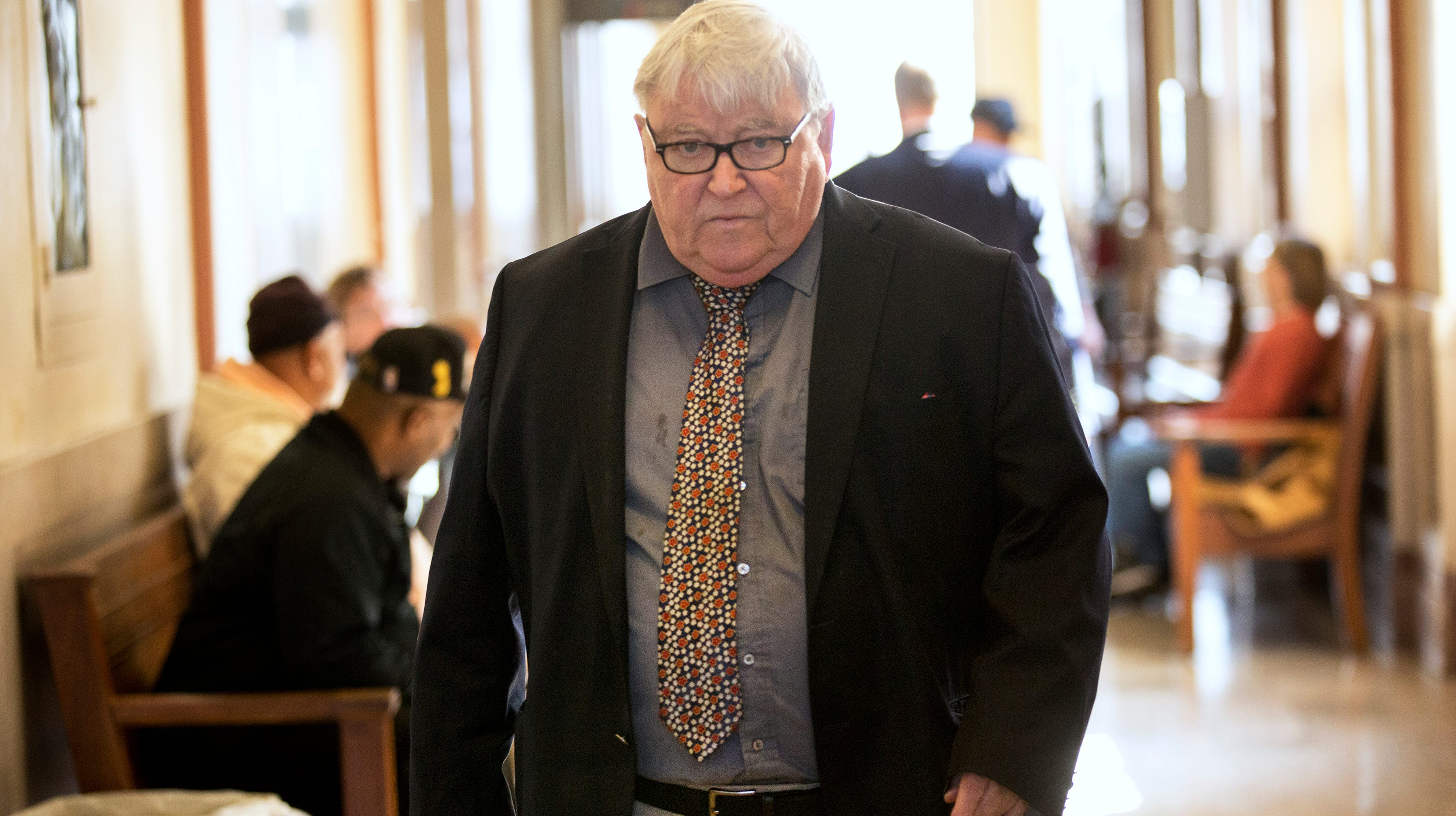Local Portsmouth attorney, Michael Mearan, 73, in the hallways of the Scioto County Courthouse, in Portsmouth, Ohio.