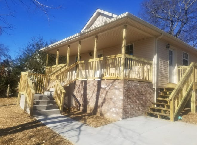 This is a Clarksville neighborhood home that was rebuilt in 2018 by the City's Office of Community and Economic Development using federal Community Development Block Grants and HOME Investment Partnership Funds. The office has contracted to renovate or rebuild five more homes this spring under these programs.