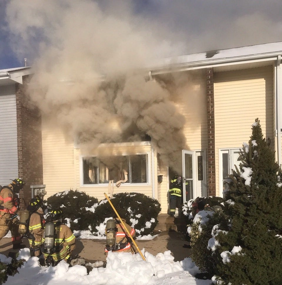 South Brunswick fire: Firefighters battle 3-alarm blaze at Quincy Circle townhouse complex