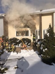 Fire at Quincy Circle townhouse complex in South Brunswick