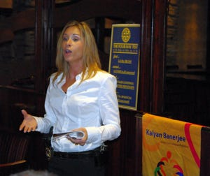 Branchburg Police Detective Kate Proscia-Berger, pictured in 2011, is suing the department and the township, claiming she is the victim of a hostile work environment.