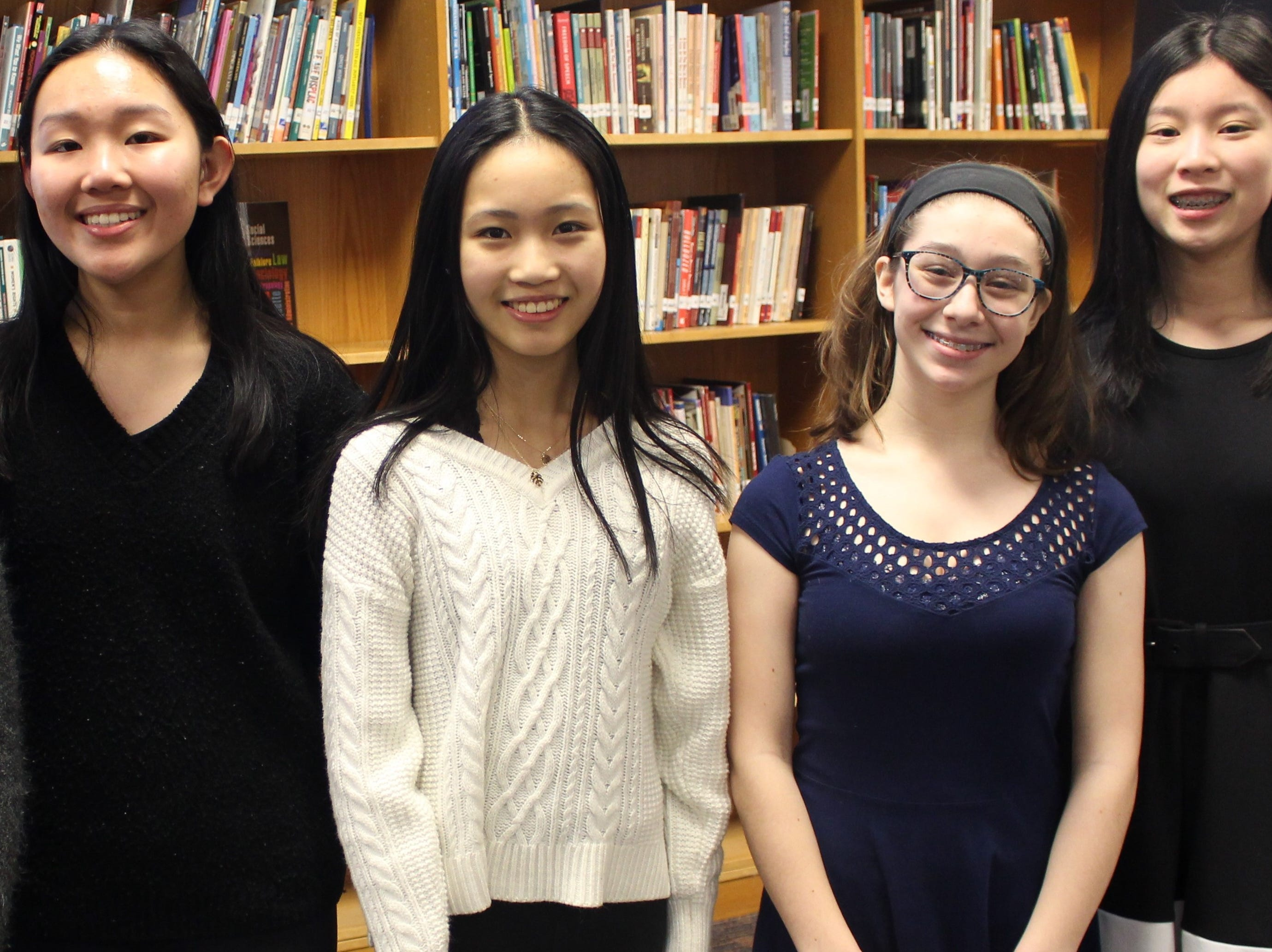 Grade 8 Warren Middle School students Angela Zhang, Cynthia Ming, Evelyn Logan and Emma Leung gave TED-Ed talks during the week of Feb. 25.