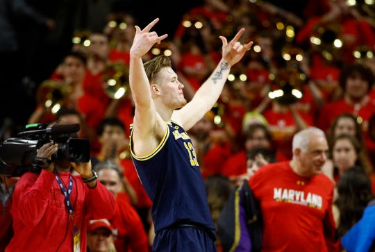 Michigan forward Ignas Brazdeikis had 21 points and seven rebounds against Maryland on Sunday.