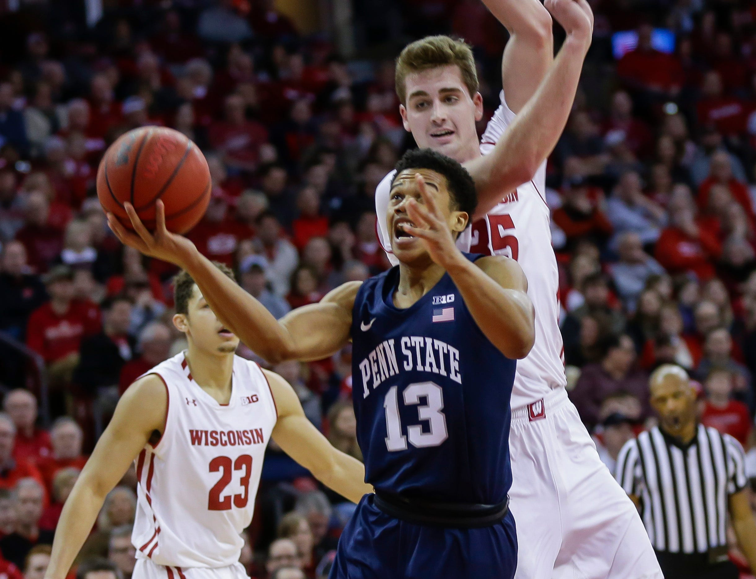 12. Penn State (12-17, 5-13) – The Nittany Lions continue to play well as they destroyed Maryland early in the week and then came up short on the road against Wisconsin, ending a three-game winning streak. It's the sort of play the Nittany Lions expected early in the season, and with games at Rutgers and at home against Illinois to close the regular season, the chance to build momentum entering the conference tournament seems likely. Last week: 11.